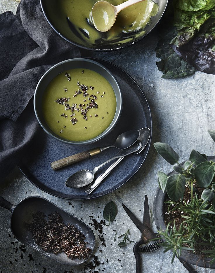 spinach soup | food styling tami hardeman | photo greg dupree | prop styling ginny branch