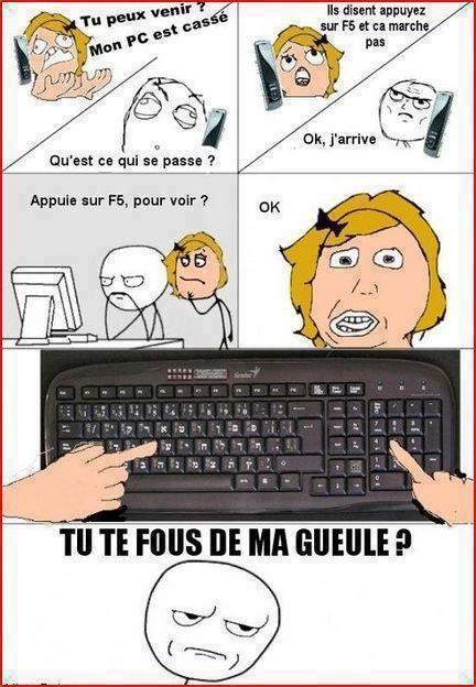 """Images Comment les blondes tapent """"F6"""" Images drôles Blague en image sur Humour.com"""