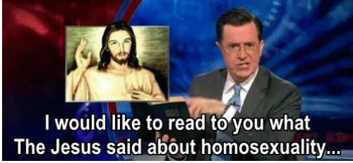 I Would Like To Read What Jesus Said About Homosexuality...