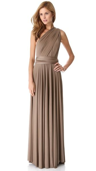 Twobirds Convertible Maxi Dress.  A versatile maxi dress that can be worn more than 15 ways. Extra-long sashes wrap and twist to create a truly unique look. Pleated waistline and unfinished edges. Unlined.