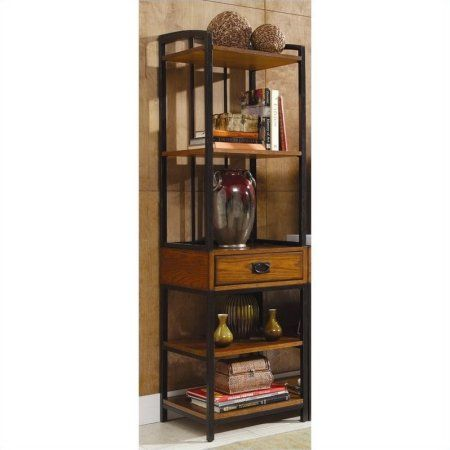 Home Styles Modern Craftsman Distressed Oak Gaming Tower, Brown