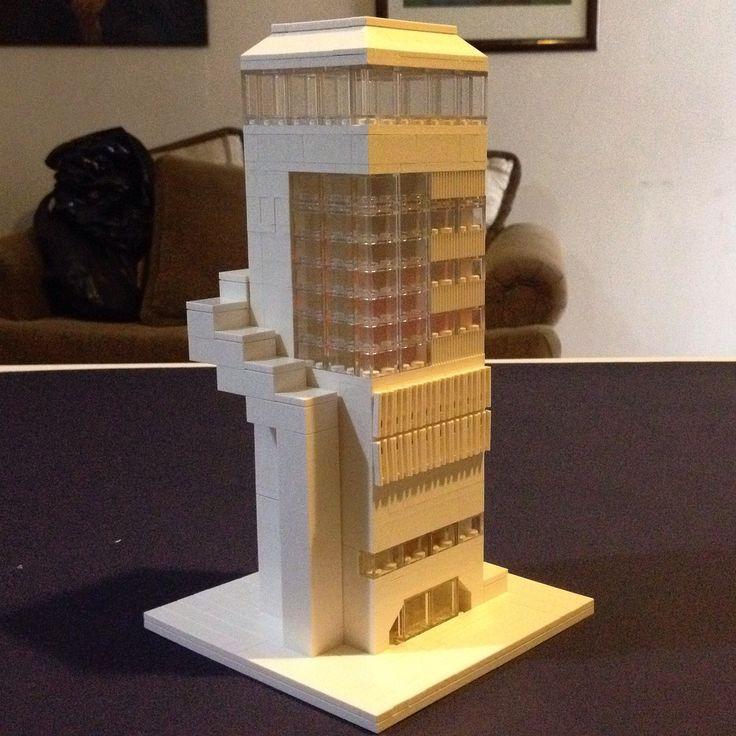 Aqui una propuesta bastante modesta, inspirada en la imagen del edificio antes mencionado.