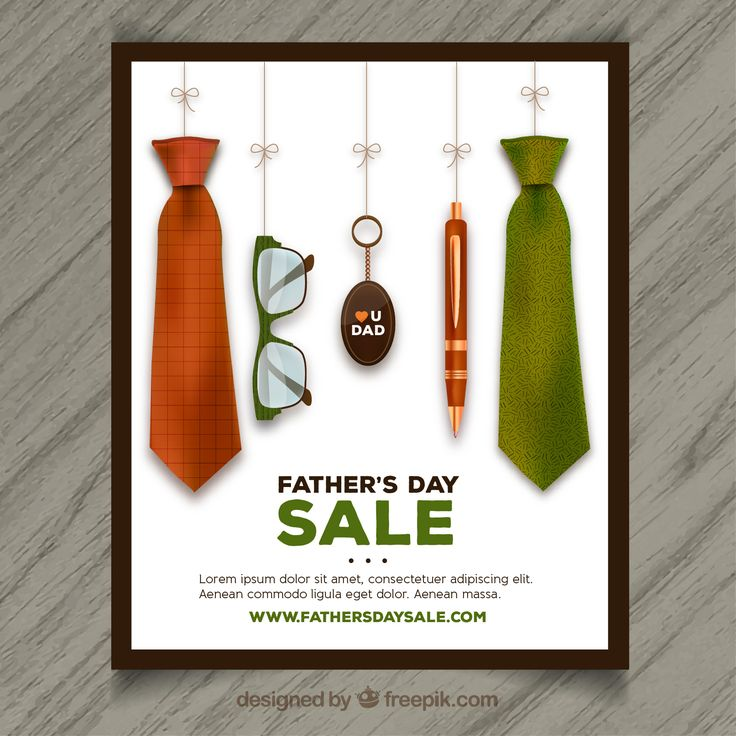 creative fathers day sale poster