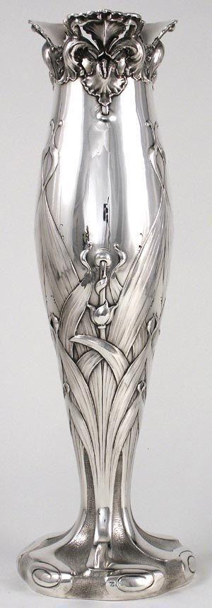 Theodore B. Starr sterling Art Nouveau vase ~ 1900