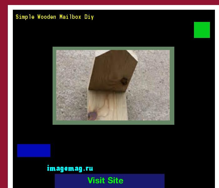 Simple Wooden Mailbox Diy 162541 - The Best Image Search