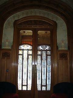 Paseos Art Nouveau: Intérieur, rez-de-chaussée de Hôtel Bouctot-Vagniez, architecte Louis Duthoit, 1909-1911, 36 rue des Otages, Amiens (Som...