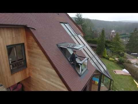 ENTREPRISE BRISACIER Création d'une Verrière balcon VELUX CABRIO GDL 2066 + LSB - YouTube
