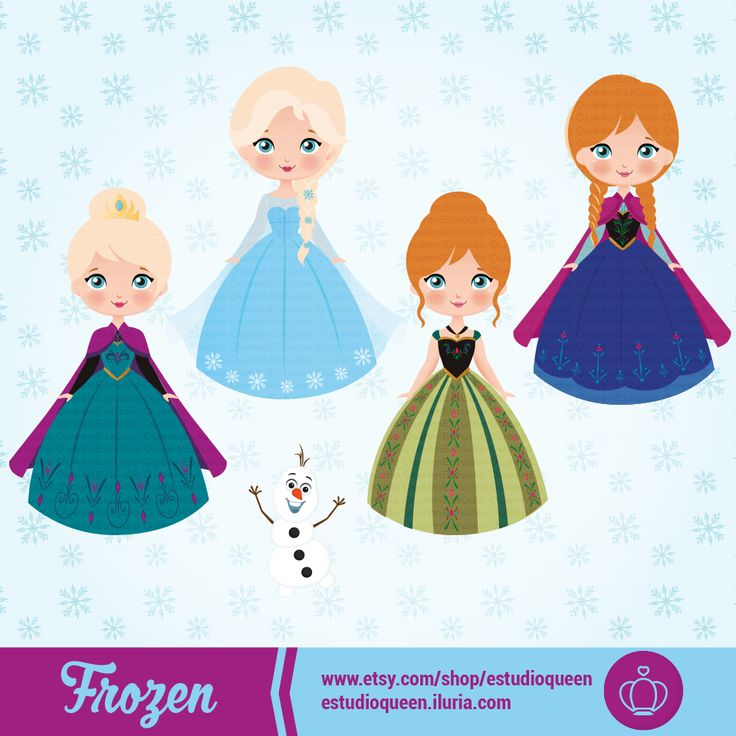 clipart princess, clipart princesas, princess cute, pricesas fofas, girls dress to, clipart frozen, frozen party, elsa party, anna party, olaf party, clipart party, cute party