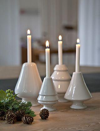 Avvento Kerzenleuchter in Weiß von Kähler Design für Baumkerzen