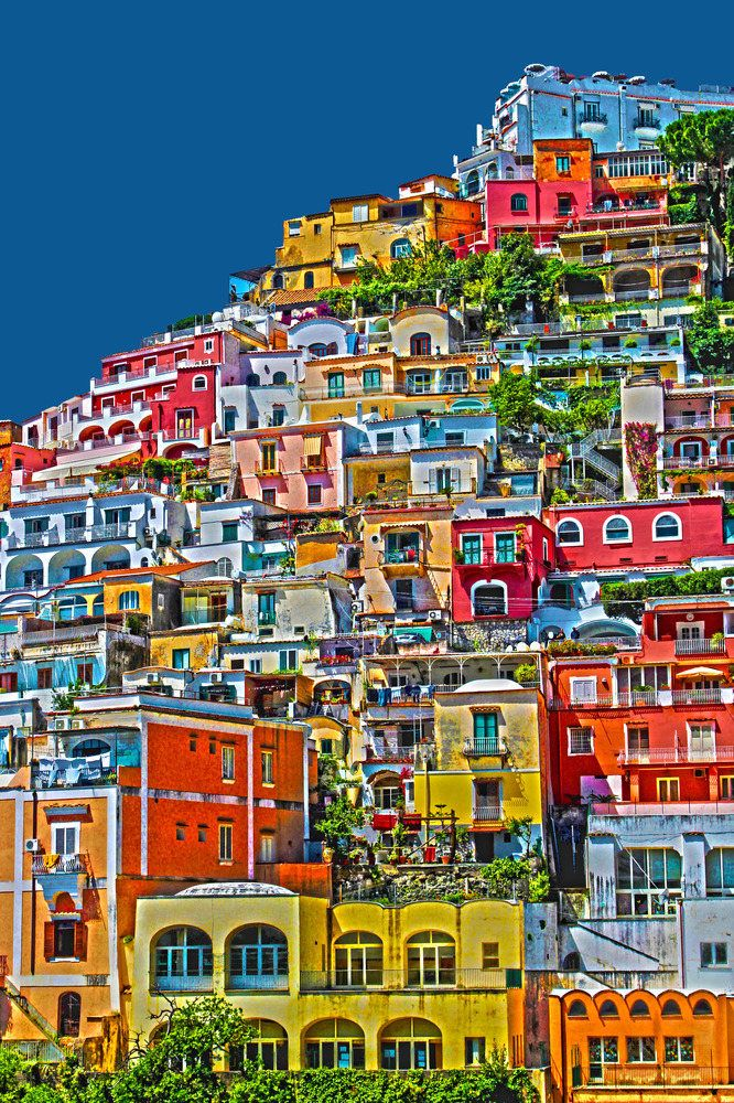 Positano, Amalfi Coast, Italy I would love to visit but I really just like the picture.