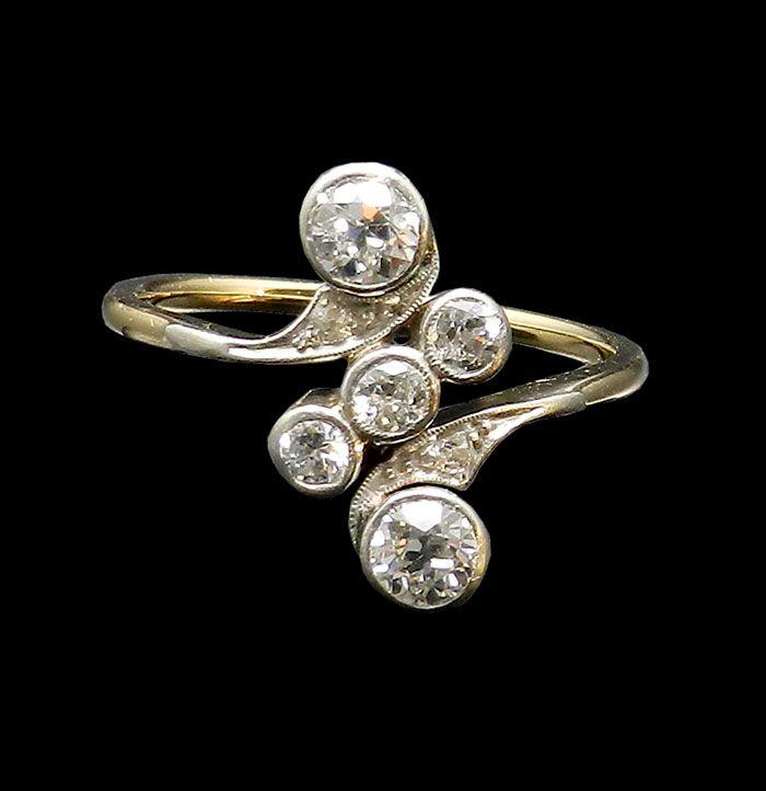 jugendstil diamantring jewelry