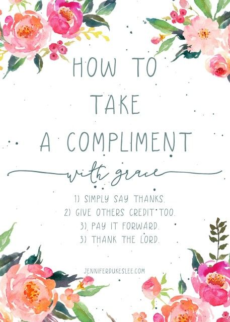how to take a compliment with grace