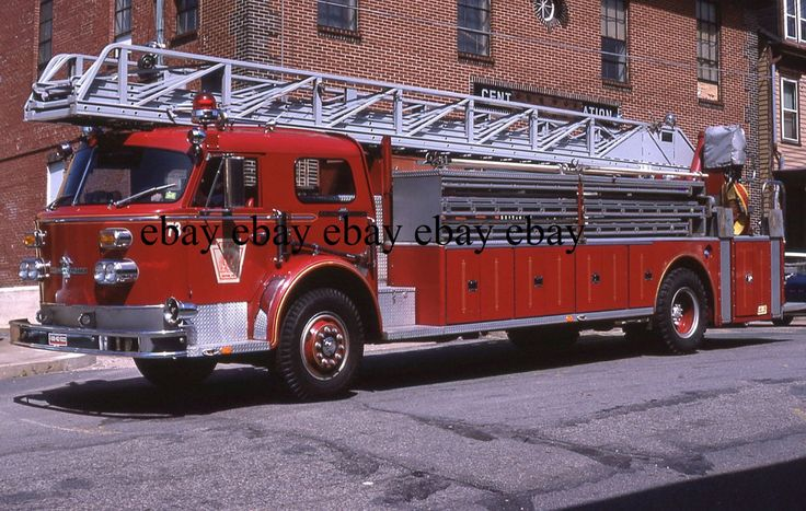 Fire Apparatus Slide - Easton PA - 1973 American LaFrance Truck 73