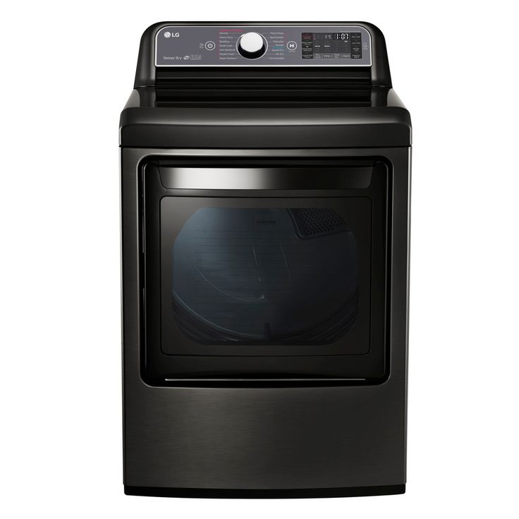 LG 7.3-cu ft Electric Dryer Steam Cycle (Black Stainless Steel) ENERGY STAR