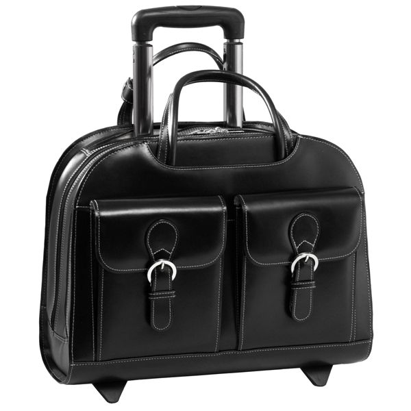 Goldswil - Laptop trolley dames leer, Leren laptop trolleys, Business Bags