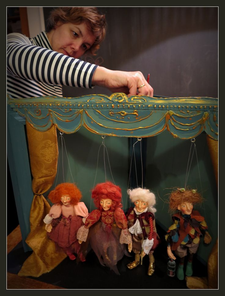W.A. Mozart: The Magic Flute. Marionett puppets by Zsuzsa Almási