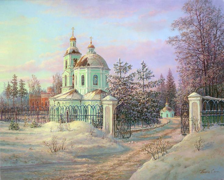 Russian expanses: Beauteous painting by the artist Sergey Panin - 07