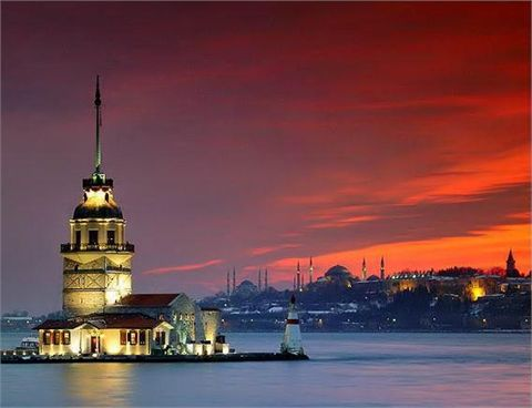 Tramonto da Üsküdar, Istanbul