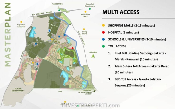 Peta Lokasi Serpong M-Town Gading Serpong.