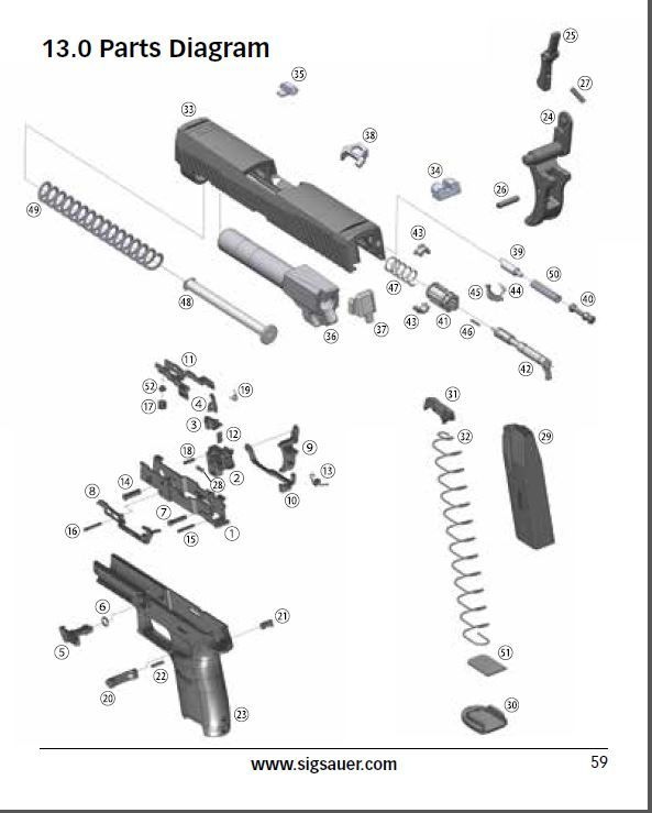diagram of a handgun guns and their nuts and bolts pinterestep series pts firearm parts and accessories pinterest knivesdiagram of a handgun guns and their nuts