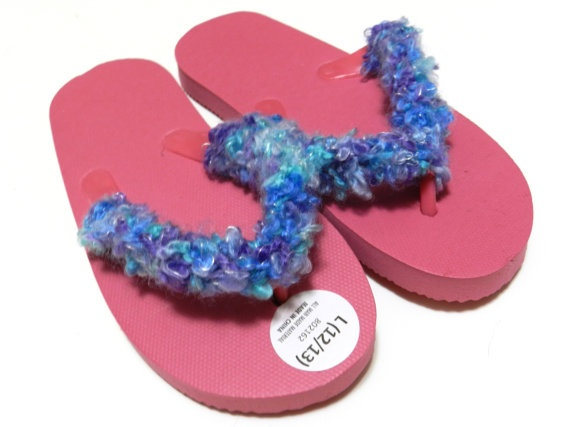 Summer Child's Flip Flops by AGStitchesnSplinters on Etsy, $8.00
