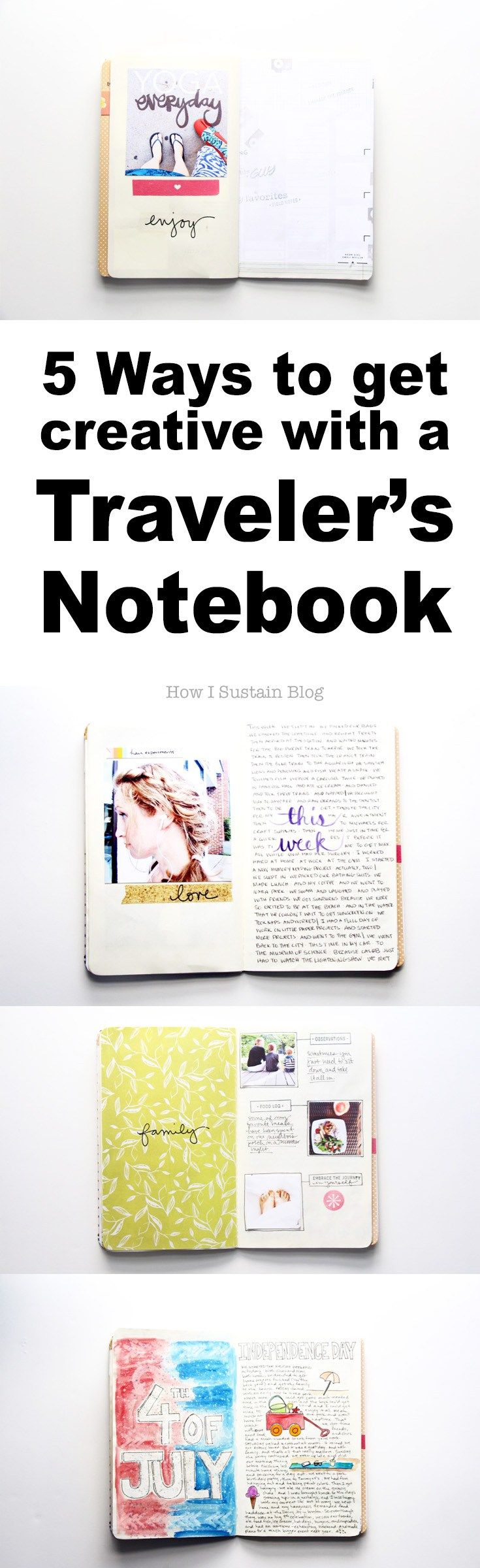 5 Ways to Get Creative with a Traveler's Notebook | Part of a series on Midori…