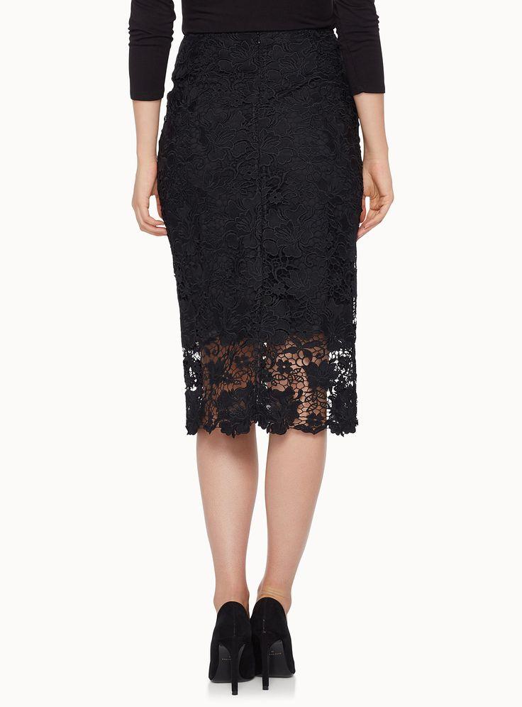 Floral lace midi skirt   Simons