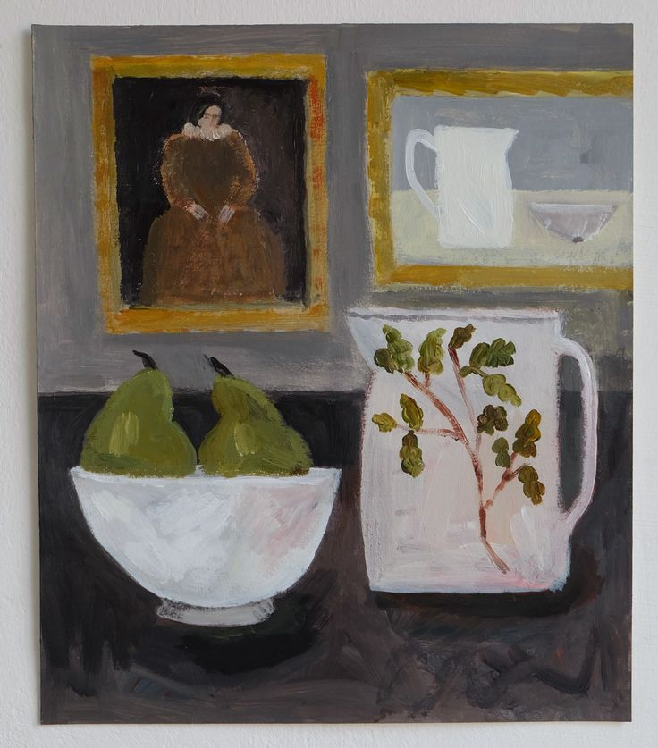 a still life / interior painting - featuring paintings within a painting (one of my favourite things to paint). acrylics on Fabriano paper (300gsm)an original artwork, signed on reverse (un...