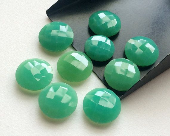 Chrysoprase Stones Loose Chrysoprase Round Double by gemsforjewels
