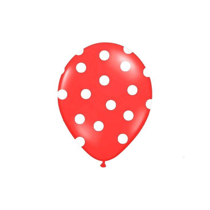 Palloncini in lattice colorati a pois bianchi, ideali per feste di compleanno, anniversari, nascita, battesimo ed eventi. Perfetti sia ad aria che ad elio