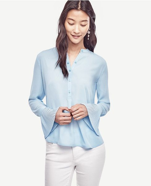 Primary Image of Pleated Cuff Blouse