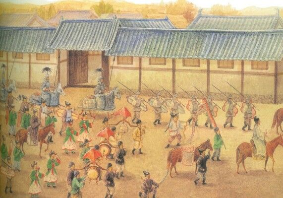 고구려 안악3호분 대행렬도 상상도 1-Goguryeo's Anak tomb number 3 parade imagination art 1