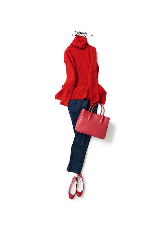 赤多めの配色でパリっぽい雰囲気