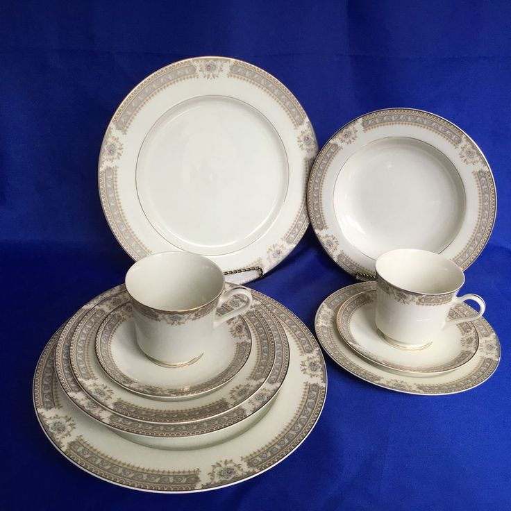 10 pcs mikasa richelieu ivory china dinner plate bowl cup saucer 2 place setting mikasa