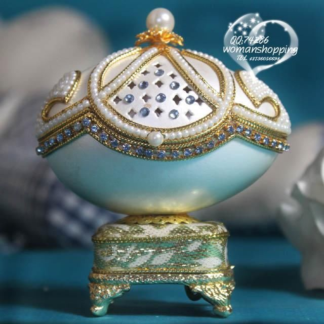 Teal Gold and pearls  Faberge style Russian carved egg music box free shipping e04 on AtomicMall.com http://atomicmall.com/view.php?id=2287289_source=Twitter_medium=ProductToools