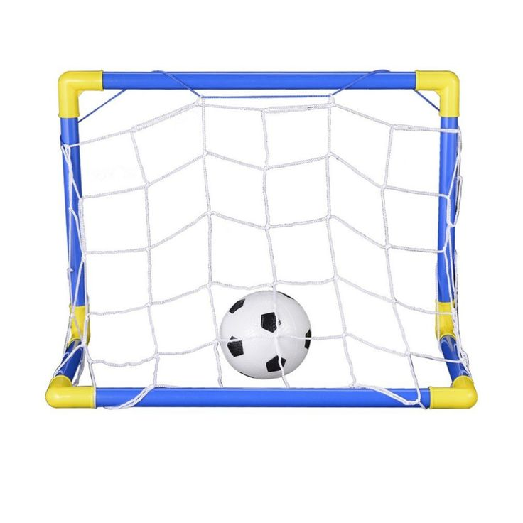 Great Folding Mini Football Soccer Goal Post Net Set with Pump Kids Sport Indoor Outdoor Games Toys