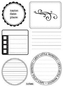 *Sandylion Clear Stamps MEMO Notes KPSTP10