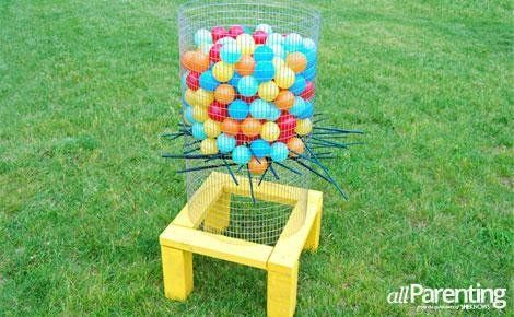 DIY backyard Ker-Plunk game