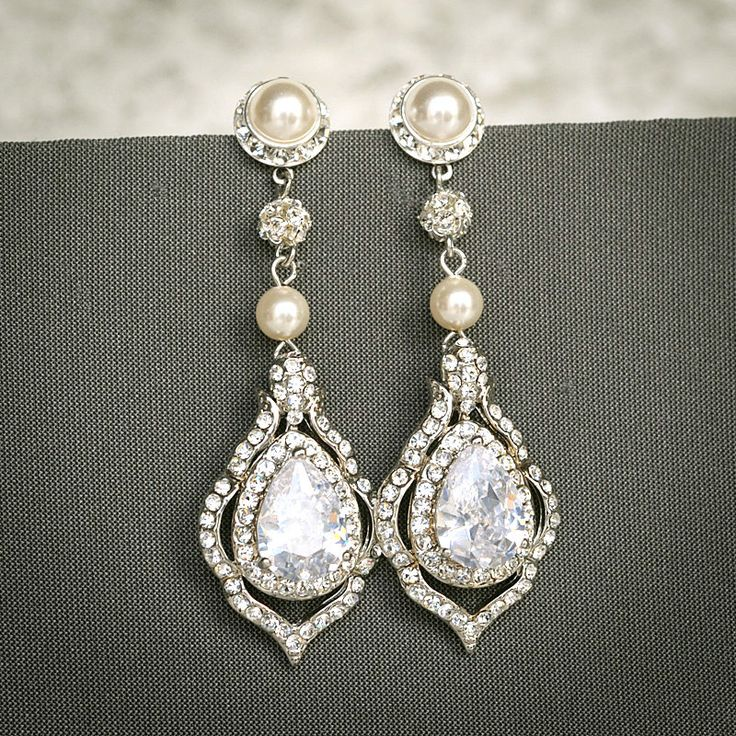 TORILYN Wedding Earrings Bridal Earrings by GlamorousBijoux