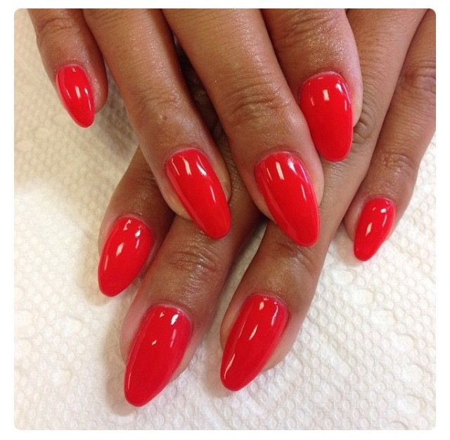 Candy Paint This Is Red Gel Look At The Shine Red Nails Red Gel Nails Gel Nails