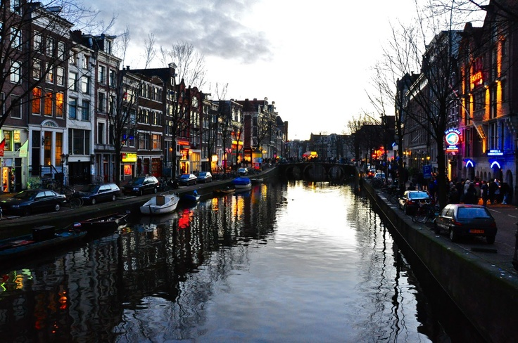 Amsterdam on dusk via: Behind The Lens Lukey: I AMsterdam.  One of my favorite cities...one day I'll live here...or so I hope.