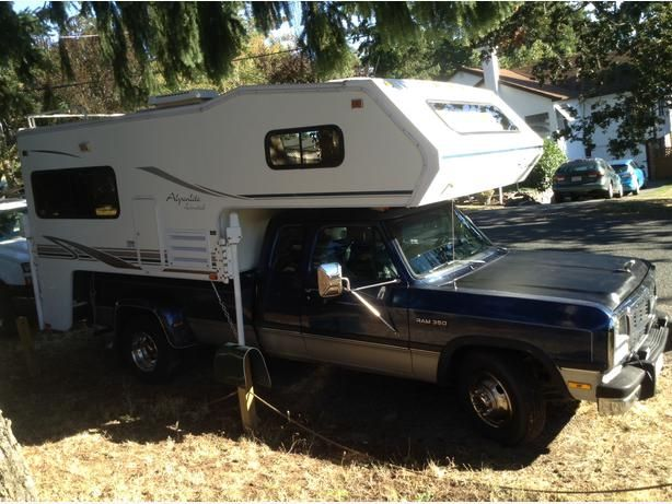 dodge 1 ton dually | ... 1993 Dodge cummings diesel 1 ton dually with 2001 Alpenlite 9? camper