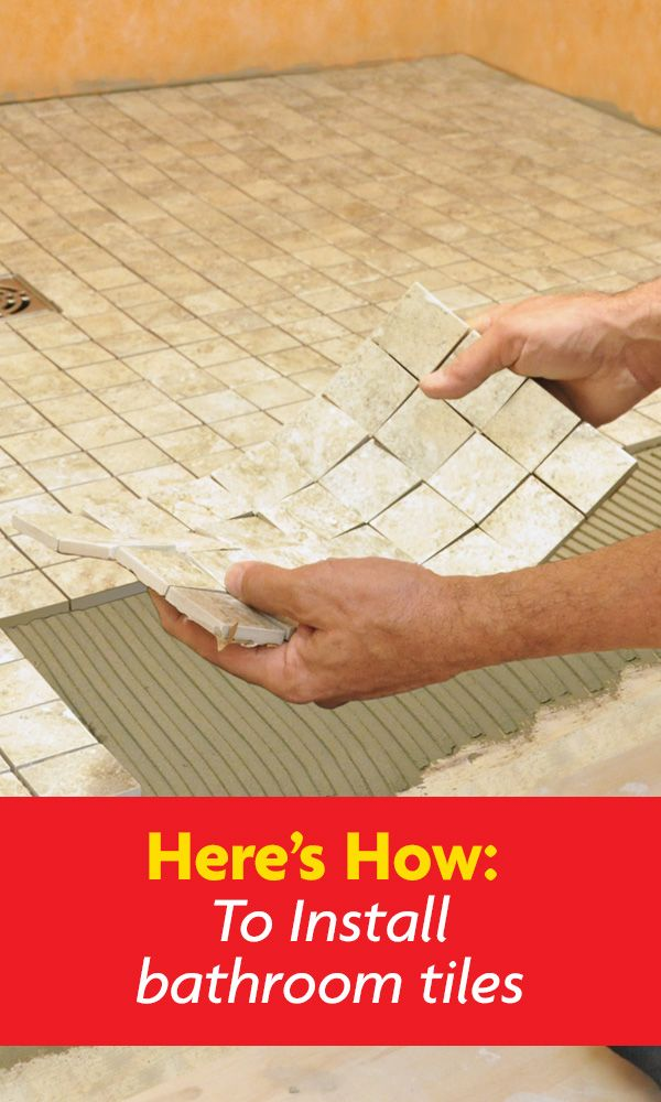 Currently doing a bathroom reno? Looking to learn how to install bathroom tiles? Here's how to install your bathroom flooring like a pro!