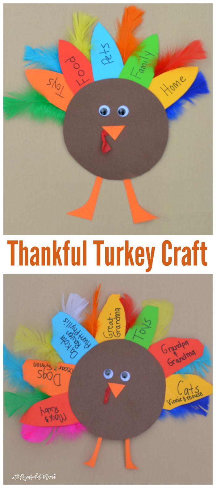 Thankful Turkey Kid Craft and Book - The Resourceful Mama