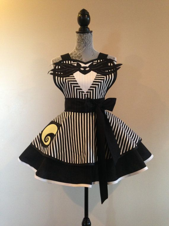 What's this, what's This! Jack Skellington inspired apron from the Nightmare Before Christmas.