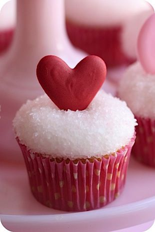 little red heart cupcake- we could do low fat healthy recipe for cake and frosting