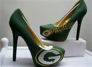 Green Bay Packer Shoes via http://sussle.org/t/High-heeled_footwear