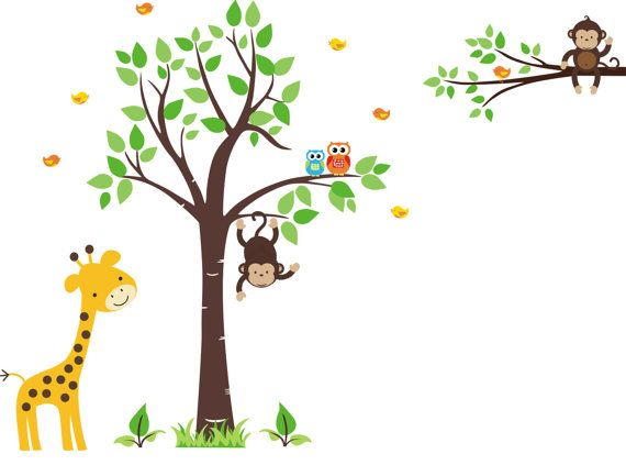 Kids Wall Stickers   Removable And Reusable Decals   Nursery Wall Decor   Jungle  Wall Sticker   Zoo Animal Decals   Baby Nursery Murals   Childrenu0027s Decals Part 67