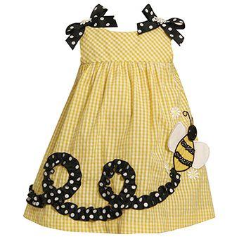 Cute sundress for the summer (Inspiration) - die Flugbahn der Biene würde ich nur aufsticken