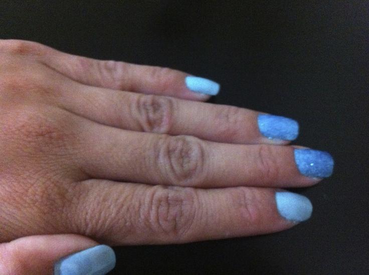 Blue Mint Mavala com Glitter Hits